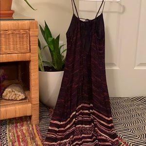 Elegant drop-back maxi dress